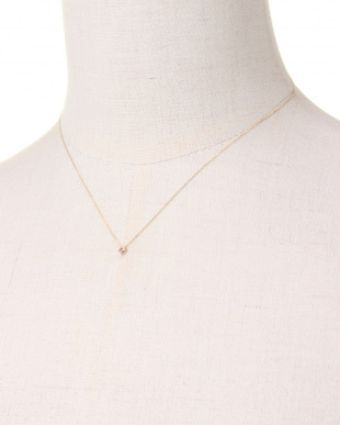 YELLOW GOLD K10YG COLORRTONE RHOMBUS NECKLACE [AMETHYST]を見る