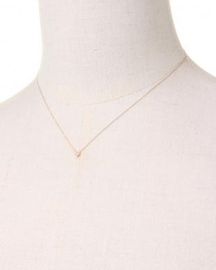 YELLOW GOLD K10YG COLORRTONE RHOMBUS NECKLACE [DIAMOND]を見る