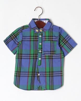 ブルー チェックマリンカラーシャツを見る