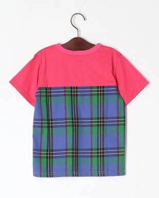 ピンク バックパターン切替Tシャツを見る