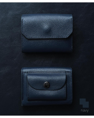 ネイビー/ネイビー 「なくさない財布」 小さくて使いやすく、とても安全な ミニ財布 。を見る
