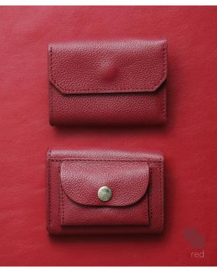 レッド/レッド 「なくさない財布」 小さくて使いやすく、とても安全な ミニ財布 。を見る