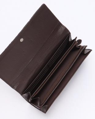 ダークブラウン カイマンクロコダイル財布を見る