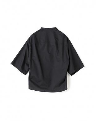 ネイビー 【消臭・UVカット】ペーパーヤーンバンドカラーシャツを見る