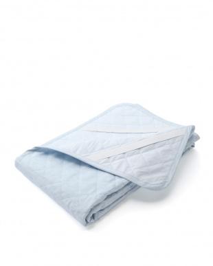 ブルー フランスリネン使用(表地) ベッドパッドSDを見る