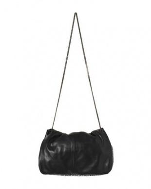 ブラック [MAISON CONNIE]04-leather&spangle small shoulderを見る