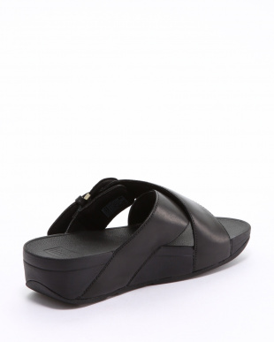 Black LULU BUCKLE SLIDESを見る