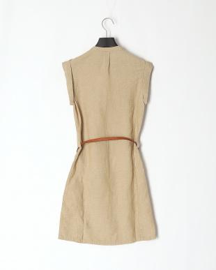British Khaki Satucket Rvr Linen Dressを見る