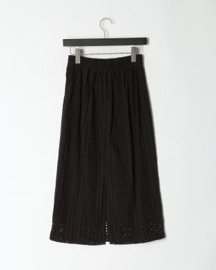 BLACK カットワークロングスカートを見る
