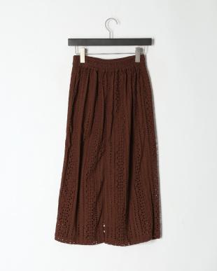 BROWN カットワークロングスカートを見る