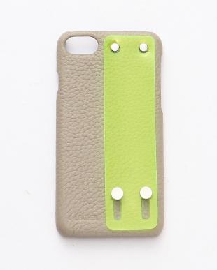 ベージュ×グリーン ネオンベルトiPhoneケース【iphone6,7,8,SE機種対応】を見る