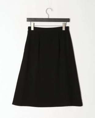 黒 薄手ポリエステルフレアスカートを見る