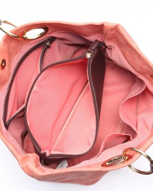 ピンク ポーチ付きトートバッグを見る