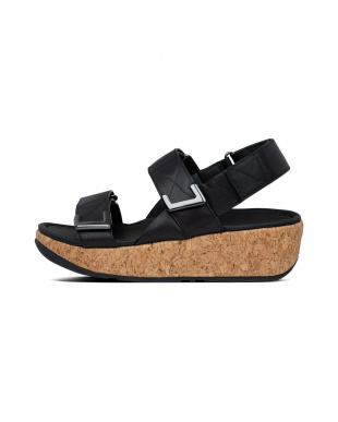 ALLBLACK REMI ADJUSTABLE BACK-STRAP SANDALSを見る