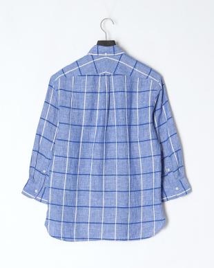 青色柄物 フレブル刺繍7分袖を見る