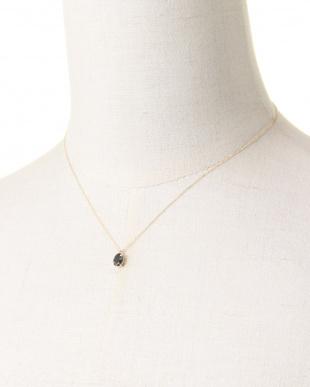 ブルー K10YG ロンドンブルートパーズ ダイヤモンド ネックレスを見る