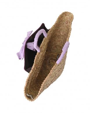 パープル [MAISON CONNIE]02-cross wrap ribbon basket bagを見る