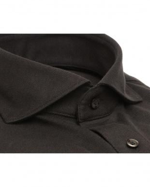 ブラウン系 ワイシャツ 長袖 形態安定 ニットシャツ ホリゾンタル ワイド ブラウン×無地調 スリムを見る