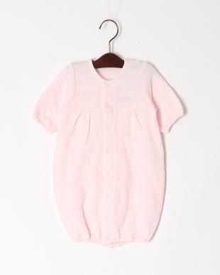 ピンク ジャガードベスト付ドレスオールを見る