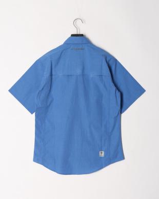 ブルー 防虫 UVカット ハーフスリーブシャツを見る