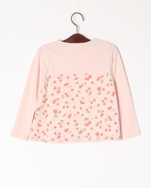 ピンク プリント切替Tシャツを見る