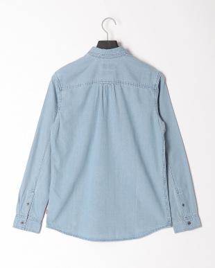 Vintage Light Indigo LS denim tencel shirtを見る