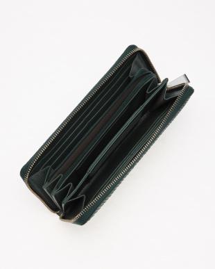 グリーン ダイヤモンドパイソンラウンド長財布を見る