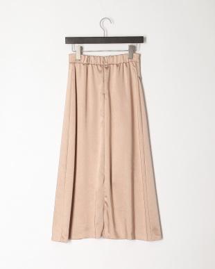ピンクベージュ 《Maglie par ef-de》フロントクロスサテンスカートを見る