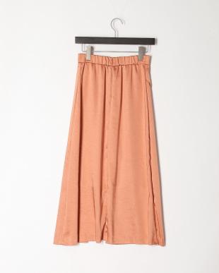 オレンジ 《Maglie par ef-de》フロントクロスサテンスカートを見る