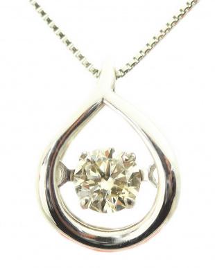 Pt900/Pt850 PT 天然ダイヤモンド 0.13ct ドロップダンシング プラチナネックレスを見る