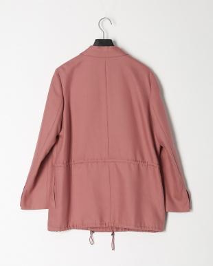 ピンク ドロストコードテーラードジャケットを見る