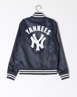 NAVY LIGHT SATIN JACKETを見る