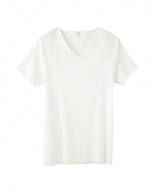 オフホワイト VネックTシャツ×2セットを見る
