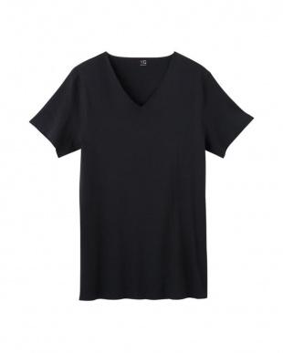 ブラック VネックTシャツ×2セットを見る
