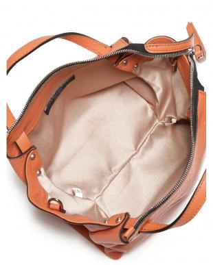 オレンジ ORIGAMI/P レザー 2WAYバッグを見る