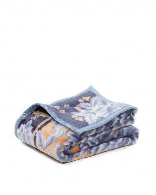 ブルー 日本製ニューマイヤー毛布シングルを見る