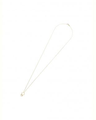 イエローゴールド K10YG アコヤパール リングモチーフ ネックレスを見る