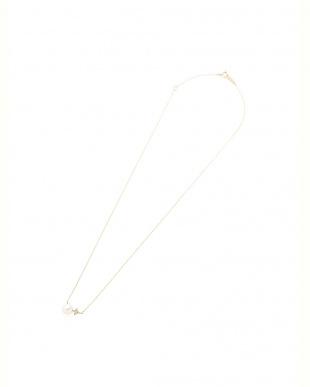 イエローゴールド K10YG ダイヤモンド 淡水パール ネックレスを見る