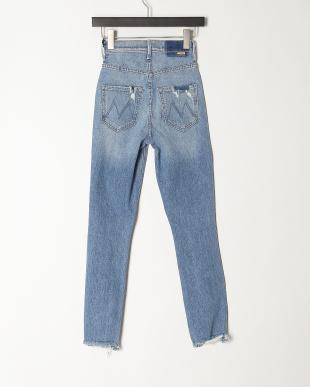 ブルー THE DAZZLERダメージ加工 デニム パンツを見る