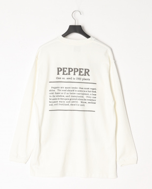 WHITE re.mate×niche vg long-sleeve t-shirts(PEPPER)を見る