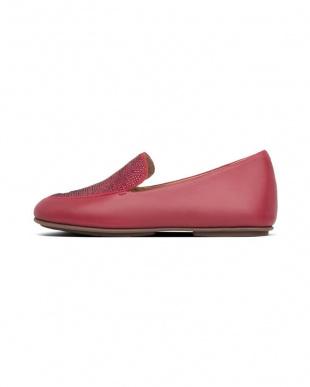 Dark Red LENA CRYSTAL LOAFERSを見る