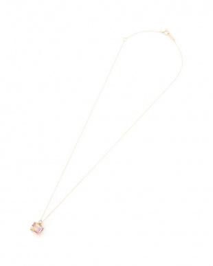 イエローゴールド K10YG アメトリン ダイヤモンド(0.02ct)バイカラー ネックレスを見る