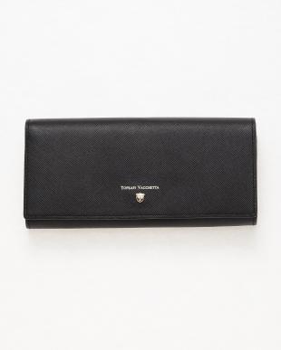 ブラック [トプカピ] TOPKAPI 角シボ型押し・かぶせのフタ長財布 CLASSICO クラシコを見る