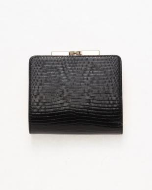 ブラック [トプカピ] TOPKAPI イタリアンレザー・リザード型押し・がま口2つ折り財布 LUCIA ルチアを見る