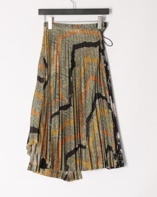 05/brown Print skirtを見る