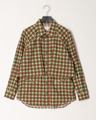 10/green Broad western check shirtを見る