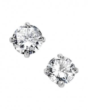 プラチナ ダイヤモンド 4本爪 ピアスを見る