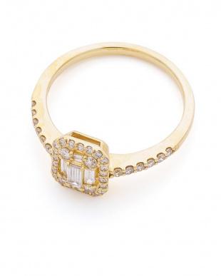 イエローゴールド K18YG ダイヤモンド リングを見る