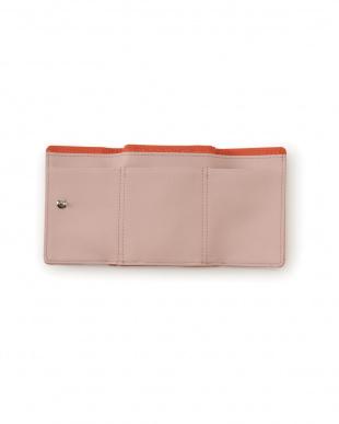 オレンジ 牛革 ミニバッグ用の小さなお財布を見る