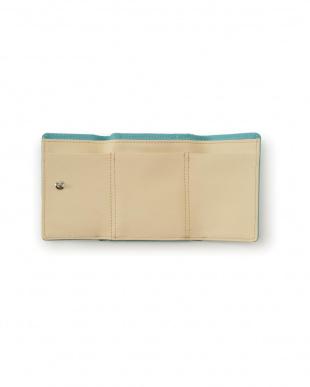 ターコイズ 牛革 ミニバッグ用の小さなお財布を見る